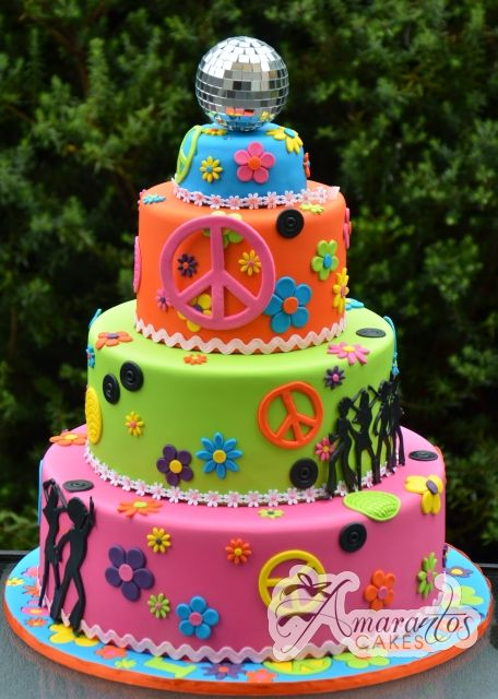 Cake Decorating Ideas Peace Sign : 25+ best ideas about Peace sign cakes on Pinterest Tye ...