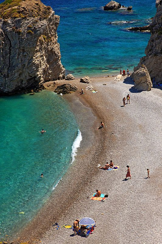 Kaladi is probably the most famous beach of Kythira island