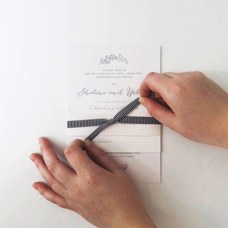 Ribbons are a great finishing touch to any wedding stationery design!  http://candlebarkweddings.com.au/wedding-invitations.html
