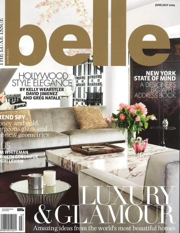 Here is a story from Belle magazine on the fashion designer Zang Toi's New York apartment.