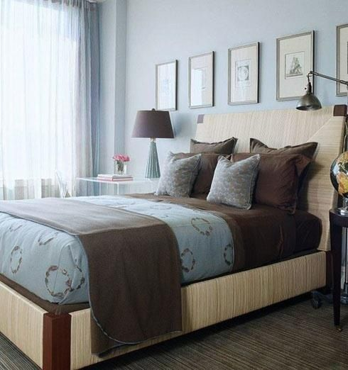 Blue Brown Bedroom Pictures: 17 Best BLUE AND BROWN COLOR SCHEMES FOR BEDROOMS Images