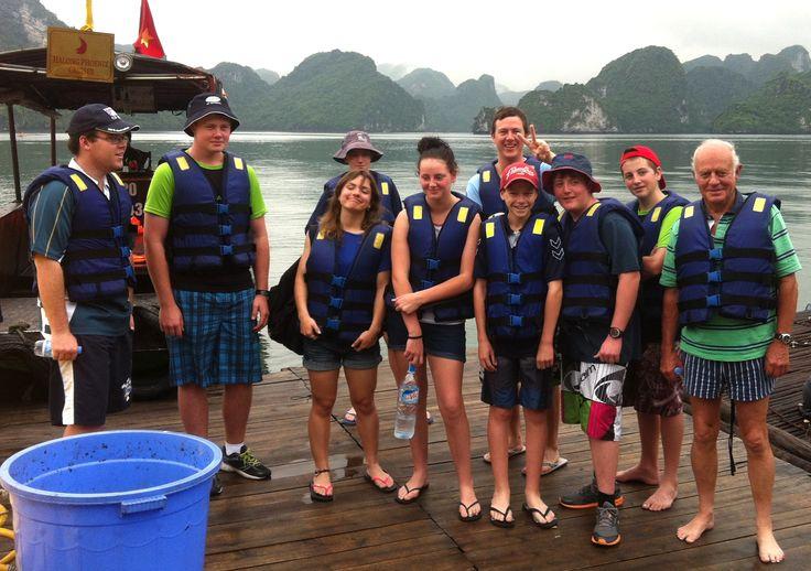 Ready to kayak in Ha Long Bay. #HaLongBay #Kayaking #VietnamSchoolTours