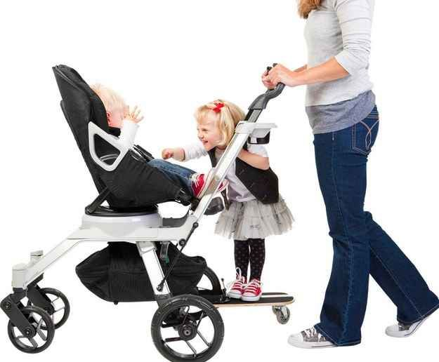 The Orbit Baby Sidekick Stroller Board attaches to your stroller, giving your older child an easy ride when they get tired.   31 Products Every Parent Of A Growing Child Will Want