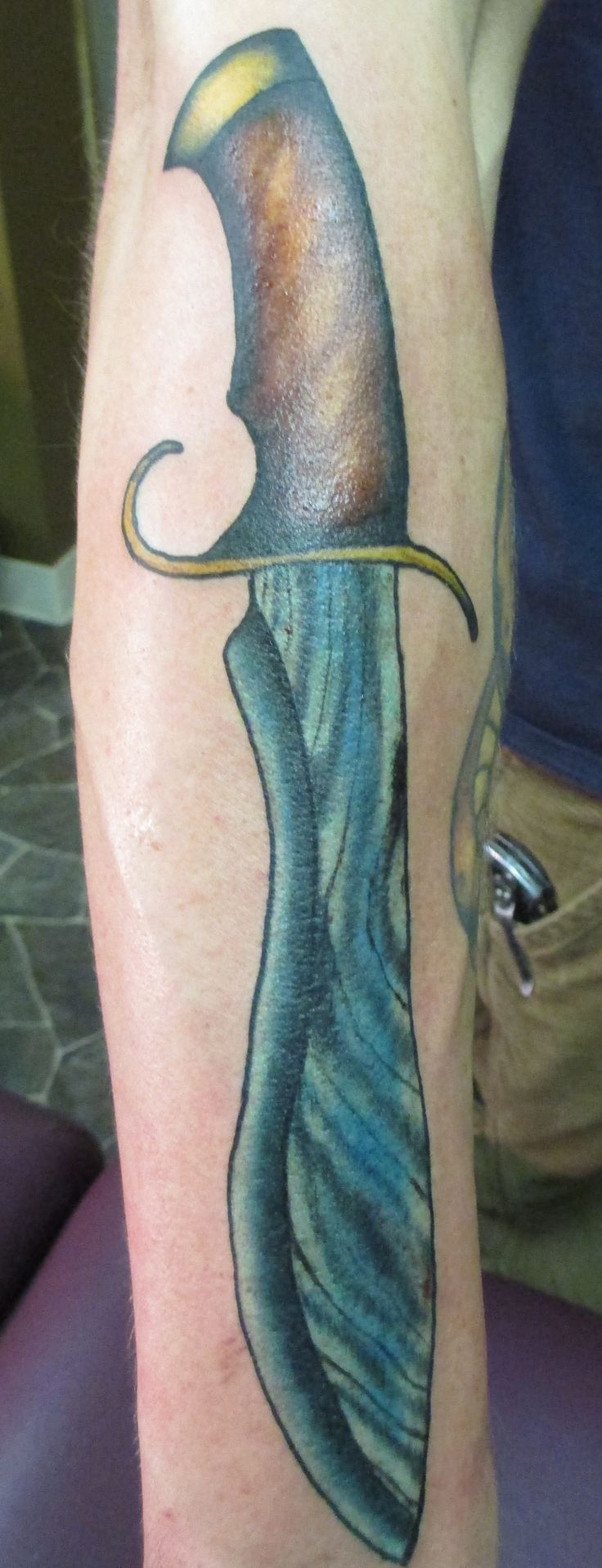 bowie knife tattoo