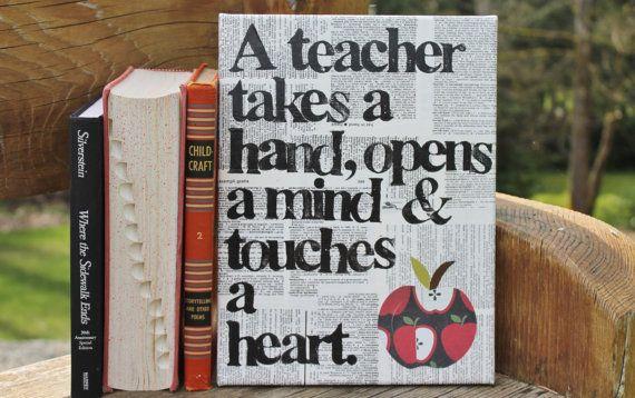 """TEACHER APPRECIATION  """"A teacher opens a mind...""""  Teacher quote"""