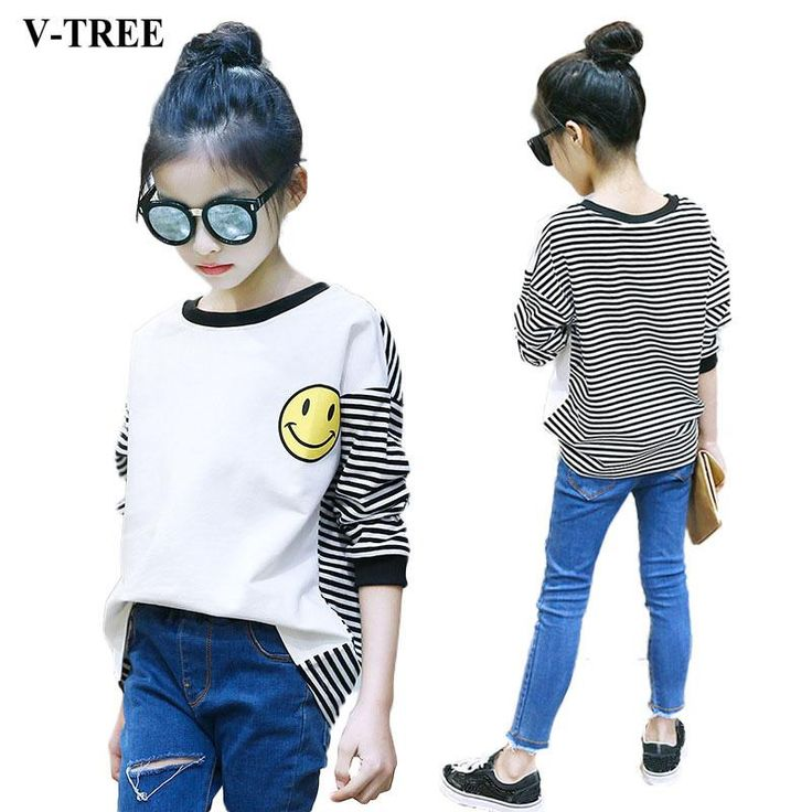 Black Friday is around the corner, check this out Size 4-12 V-TREE ...  Get it while it's hot  http://millies-little-corner.com/products/v-tree-girls-t-shirt-2017-autumn-t-shirts-for-girls-striped-kids-tees-long-sleeve-children-tops-teenager-10-12-years-sweatshirt?utm_campaign=social_autopilot&utm_source=pin&utm_medium=pin
