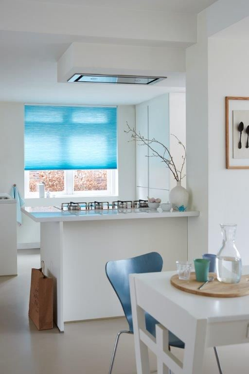 Blauwe Duette®Shades in keuken #Toppoint #duetteshades