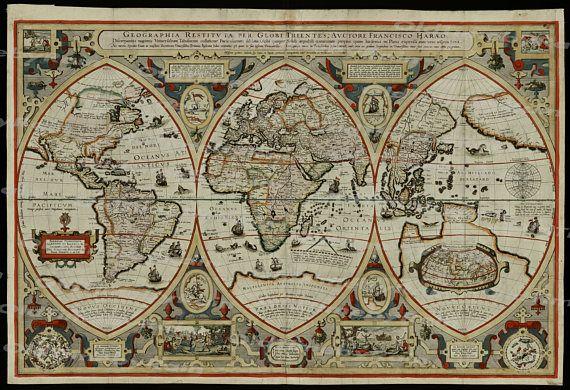 42 best old maps images on pinterest mapas antiguos ilustraciones vintage old world mapimage download retro style gumiabroncs Images