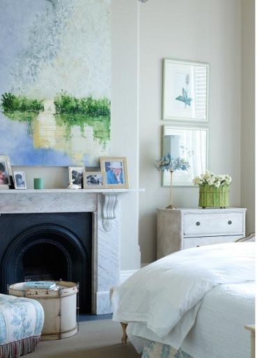 Bedroom Fireplace Fireplaces And Paintings On Pinterest
