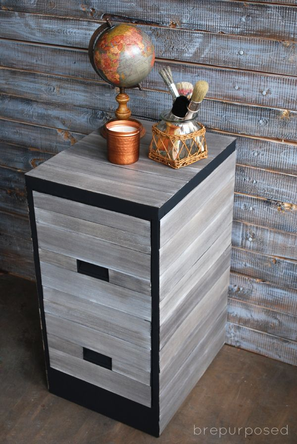 pottery barn knockoff file cabinet themed furniture makeover day