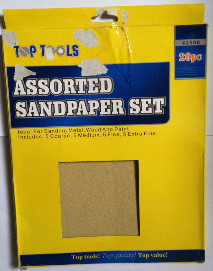 Top Tools 20pc Assorted Sandpaper Set