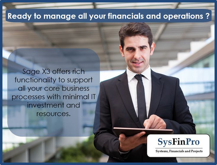 Feeling ready to manage all your financials and operations? Let #Sage X3 give you the support that you need.