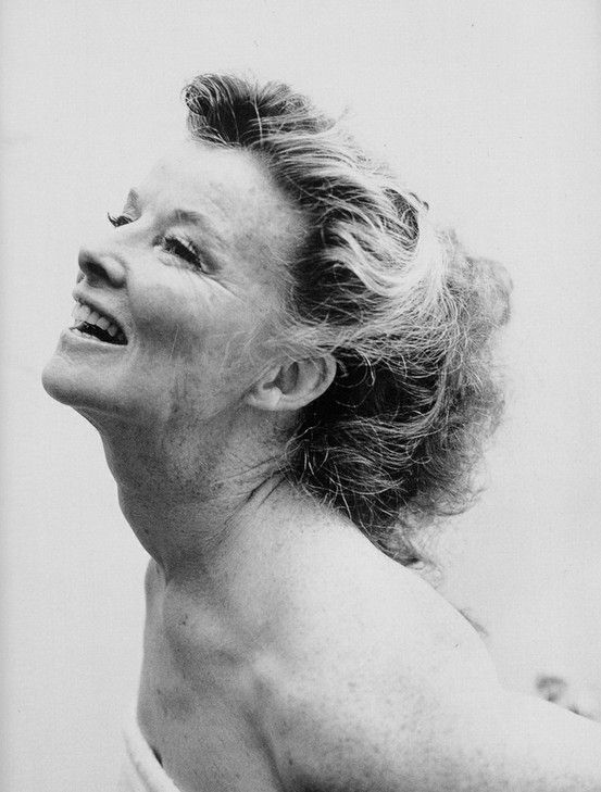 Katharine Hepburn. I hope I'll look this beautiful and joyful when I am older!