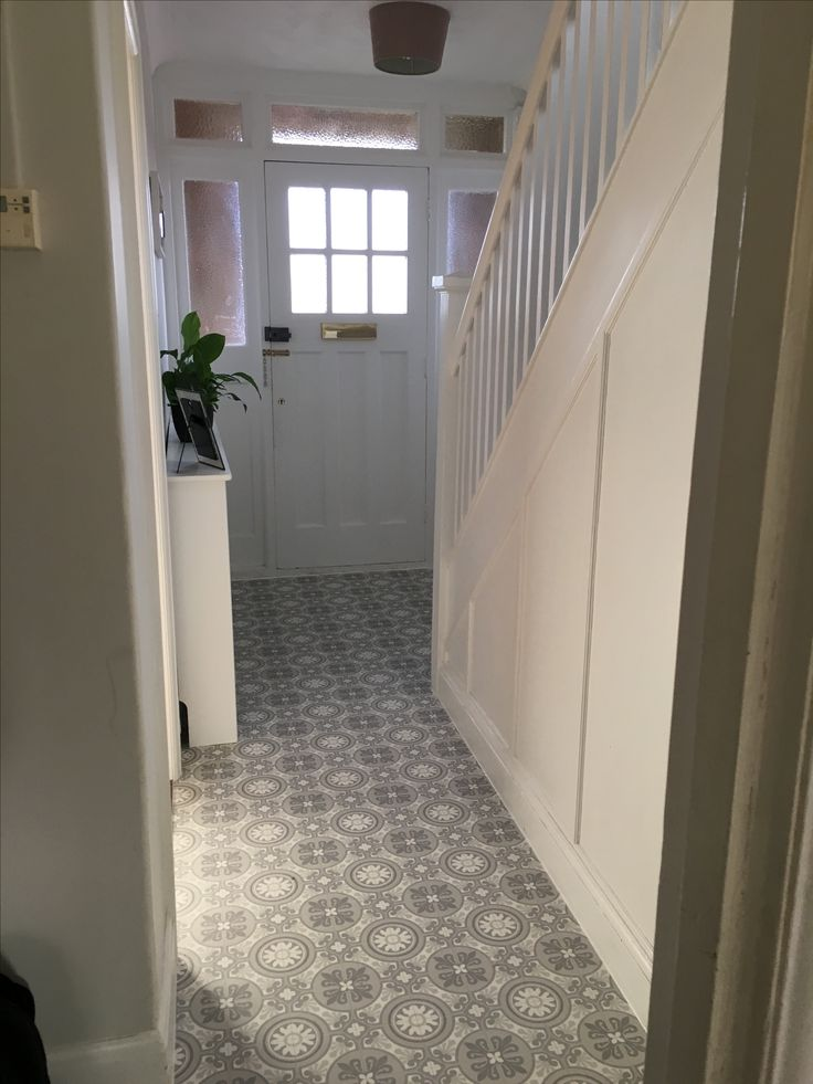 1930s Tiled Hallway Tile Design Ideas