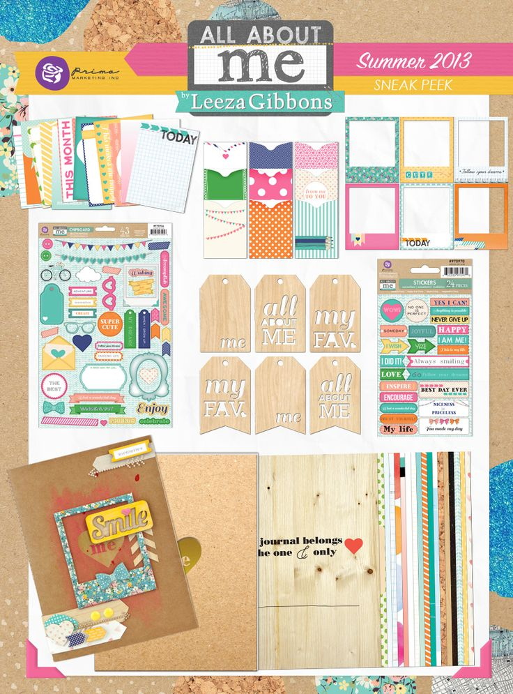 """My"""" All About Me Collection!""""  It's bright and fun and makes it easy to brag & boast or keep a secret dream with a scrapbook collection for the younger set."""