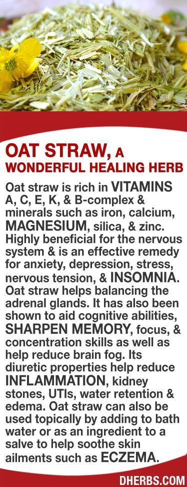Oat straw rich in vitamins A C E K & B-complex & minerals such as ir