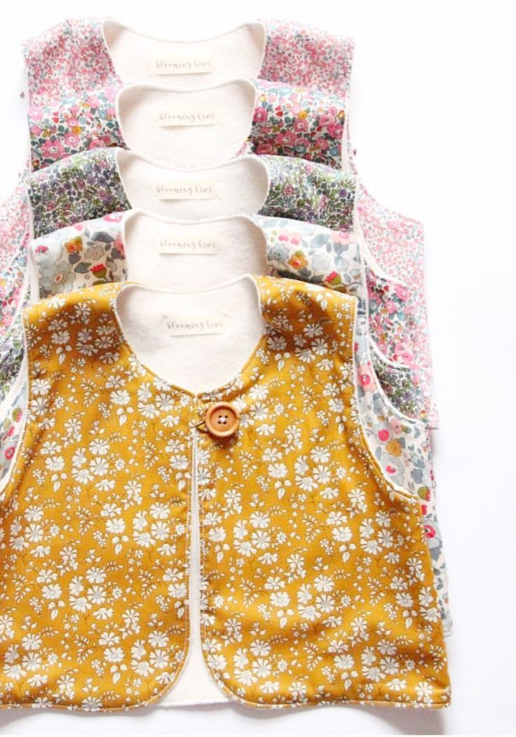 Handmade Liberty Print Fleece Lined Baby Toddler Vests | BloomingKiwi on Etsy
