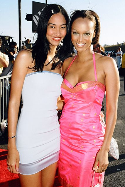 Kimora Lee Simmons & Tyra Banks The two bonded as teens just getting their start in the modeling industry. Banks is godmother to Simmons' oldest daughter.