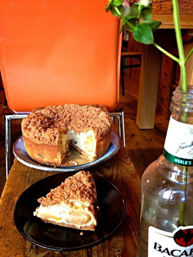 シナモンクランブルりんごチーズケーキ 🍎