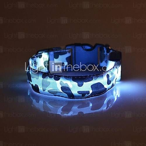 Chat / Chien Colliers Lampe LED / Sécurité / Camouflage Rouge / Blanc / Vert / Bleu / Incanardin / Jaune / Orange Nylon de 1700683 2016 à €2.93
