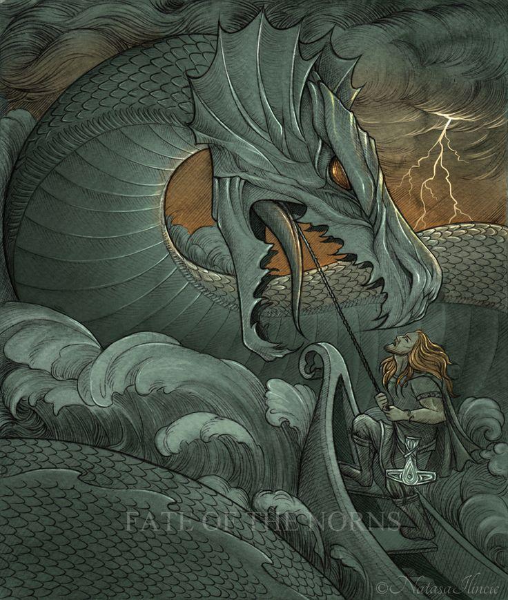 Image of Thor went fishing for Jormungand