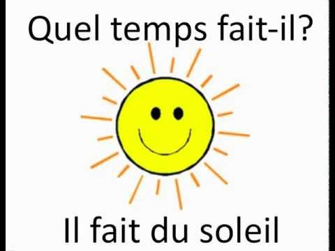 Quel temps fait-il? - YouTube