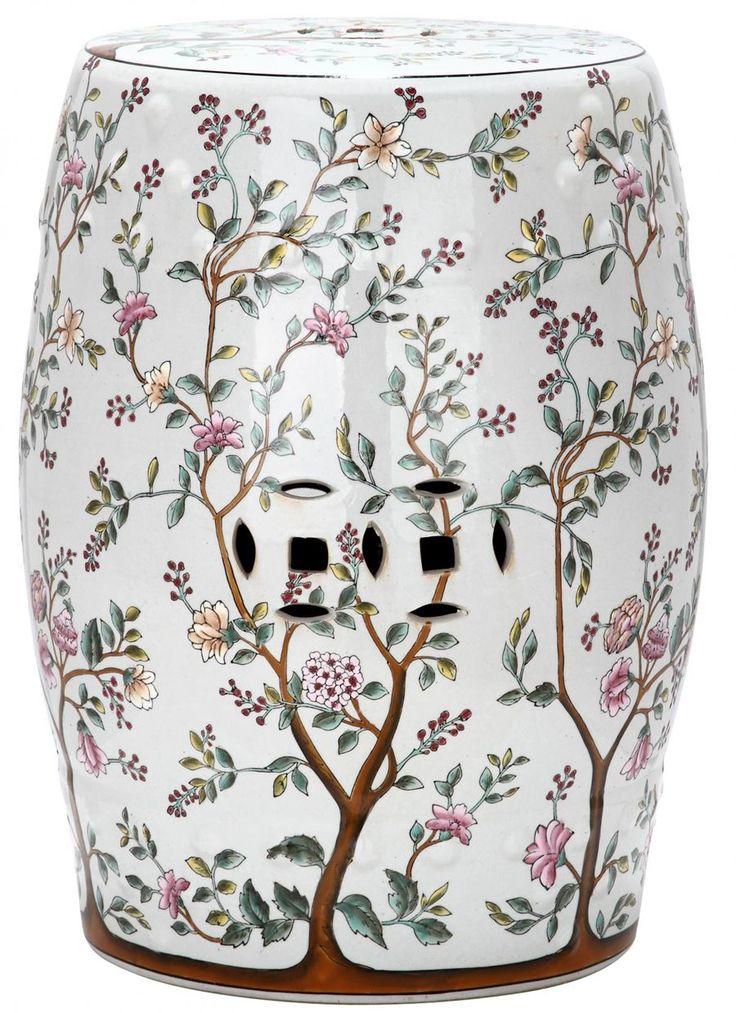 Safavieh Flower Tree Pattern Ceramic Blooming Tree Patio   The Home Depot