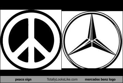 Mercedes emblem peace sign #3
