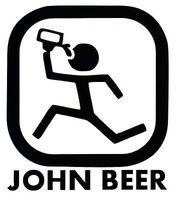 """JOHN BEER"" VINYL DECAL CAR WINDOW WALL FUNNY DRUNK BUMPER STICKER DEERE PARODY"