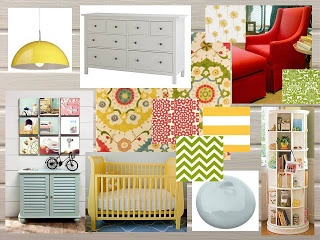 Mustard Yellow And Sage Green Baby Room