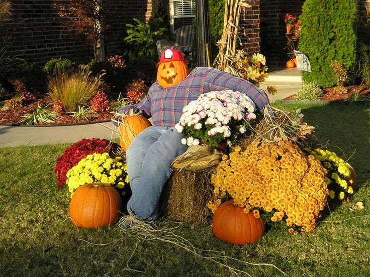 designing the outdoor decorations for fall style - Outdoor Pumpkin Decorations