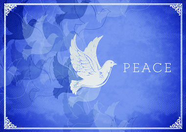 41 best holiday cards doves birds images on pinterest christmas silhouettes a peace dove etched in this beautiful blue christmas silhouette is available to m4hsunfo Images