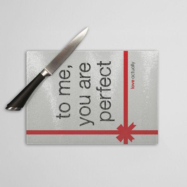 To me, You are perfect - szklana deska do krojenia w artiglo na DaWanda.com