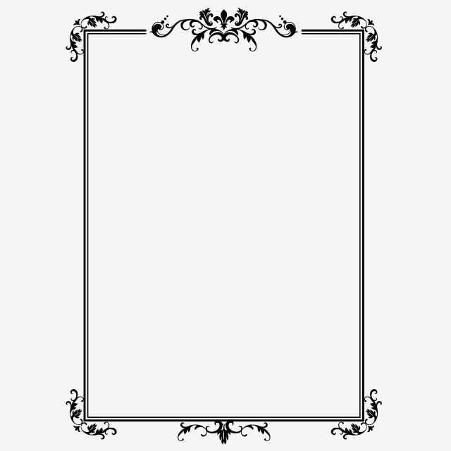 Border Black And White Chinese Style Commercial Rectangle Clipart Frame Lace Png Transparent Image And Clipart For Free Download Frame Border Design Black And White Posters Simple Borders
