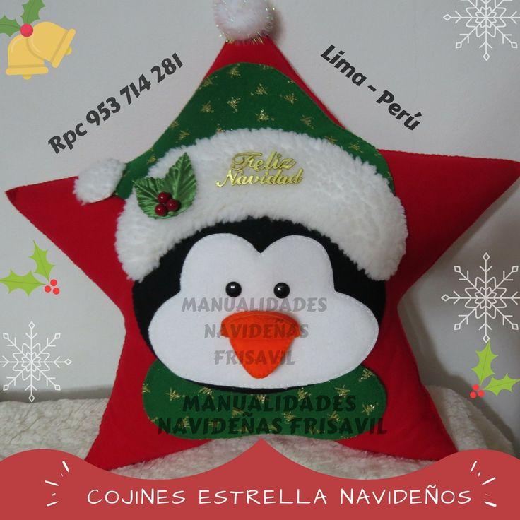 Cojín Estrella Pingüino