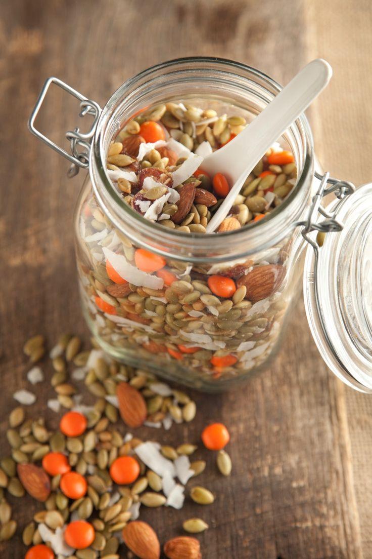 Paula Deen's Pumpkin Seed Snack Mix.
