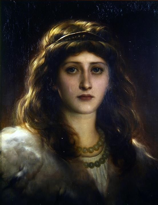Sir Frank Dicksee (1819-1895) - Portrait of a lady http://suicideblonde.tumblr.com/page/4