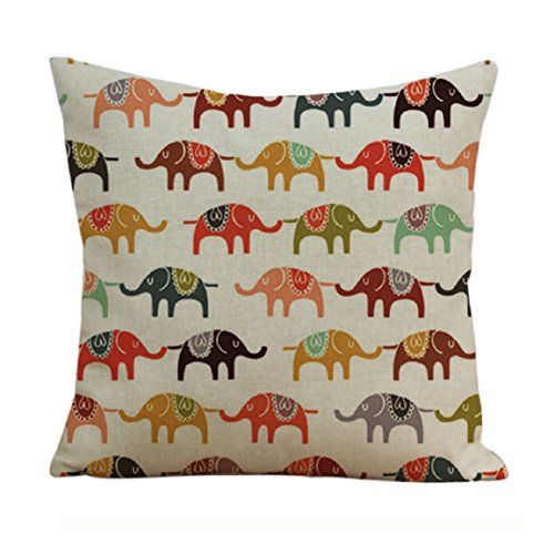 Changeshopping Home Car Bed Sofa Decorative Colorful Pillow Case Cushion Cover (Elephant) changeshopping https://www.amazon.ca/dp/B01422C9CS/ref=cm_sw_r_pi_dp_GgT8wbM9PYNFN