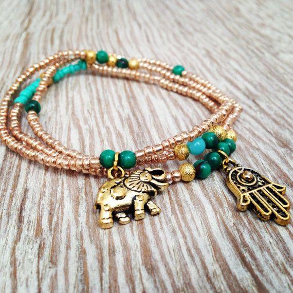 Hamsa bracelet set. Boho Jewelry. Friendship bracelet. Bracelet set, hamsa bracelet