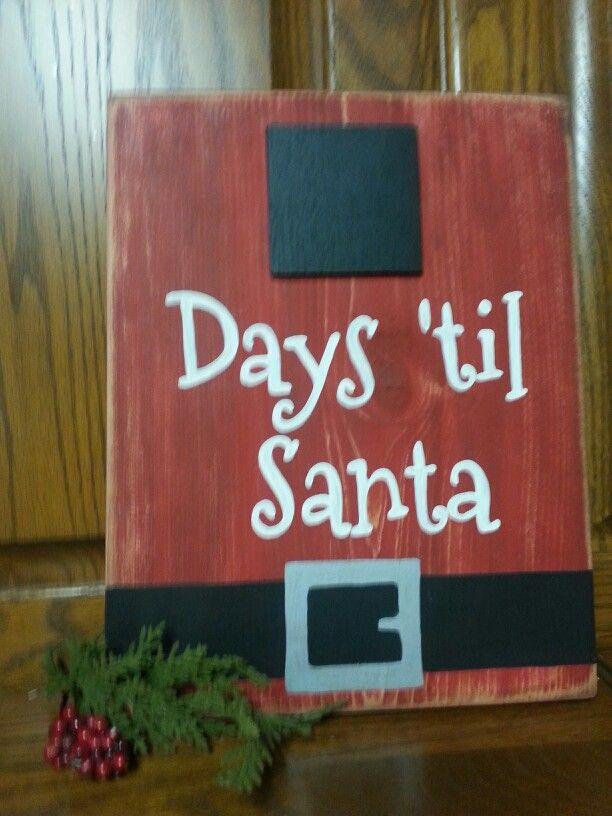 Day 'til Santa, countdown sign