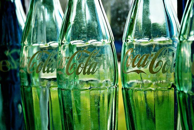 Antique Coke Bottles ....the green bottles