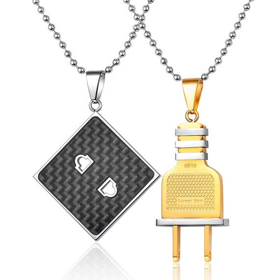 29 best engraved couples necklaces for 2 images on for Couples matching jewelry sets