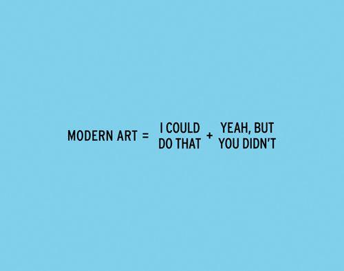 The modern art equation...