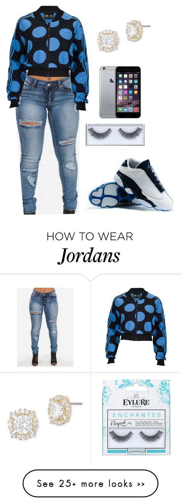 """me tonight"" by boss-style on Polyvore featuring adidas Originals, Anne Klein and eylure"
