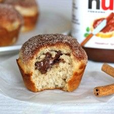 Chung-Ah Nutella filled copy: Cupcake, Sweet, Food, Nutella Stuffed, Cinnamon Sugar Muffins, Breakfast Recipes, Stuffed Cinnamon, Damn Delicious, Dessert