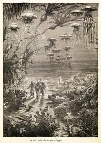 Frontispiece to Twenty Thousand Leagues Under the Sea by Jules Verne. Repro ID: F5715-002