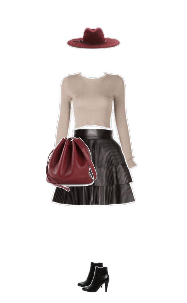 Wie findest du mein Outfit? Hut #Emiliopucci Pullover #Choies Rock #Balmain Tasche #Hermes Schuhe #AnnaField