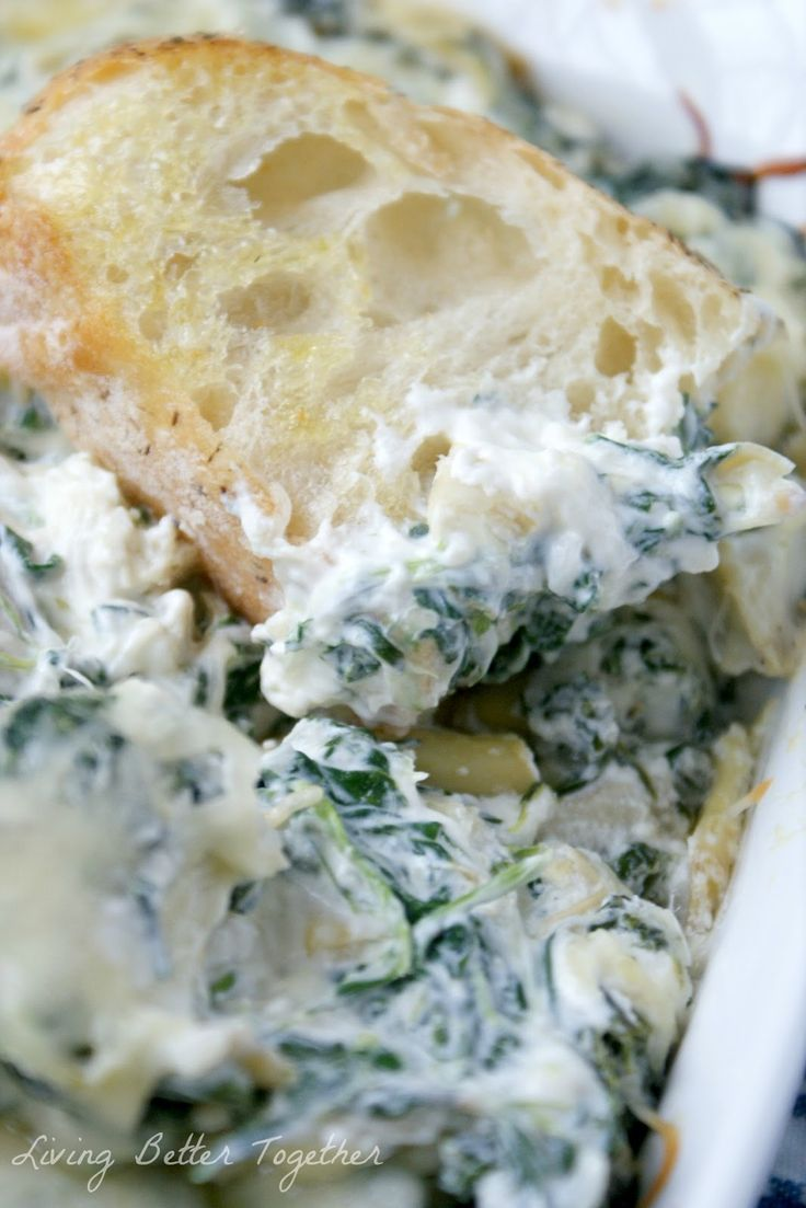 Baked Spinach & Artichoke Dip Recipe ~ an easy and flavorful recipe and a huge crowd pleaser!