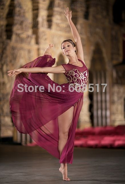 Adultos Leotardo De Brocado de Lentejuelas Vestido Largo Vestido de baile de Salón de Baile de Gimnasia Ropa Vestido de Las Mujeres Ropa de Baile de Ballet