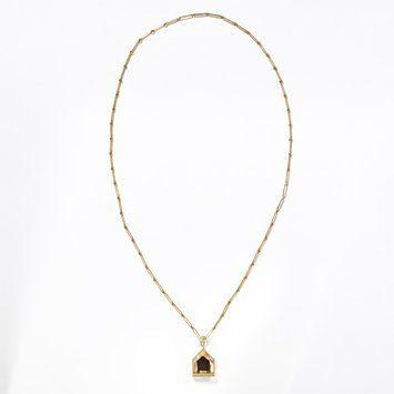 Bertel Gardberg design ~Gold set with smoky quartz #necklace, 1961. Westerbrook Company (maker).   ©Victoria and Albert Museum, London